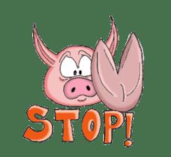 Piggie the Pig sticker #6393395
