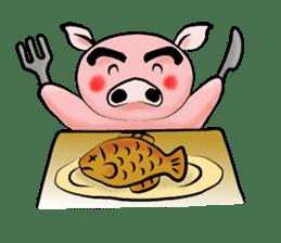 Big eyebrow pig sticker #6402804