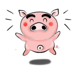 Big eyebrow pig sticker #6402810