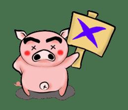 Big eyebrow pig sticker #6402814