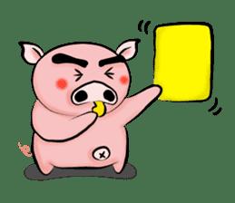 Big eyebrow pig sticker #6402815