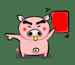 Big eyebrow pig sticker #6402816