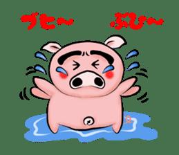 Big eyebrow pig sticker #6402830