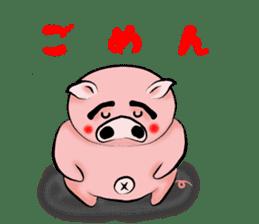 Big eyebrow pig sticker #6402837