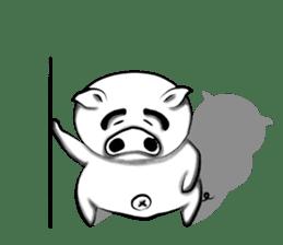 Big eyebrow pig sticker #6402839