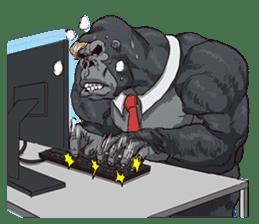 Office worker gorilla 2 sticker #6408601