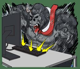 Office worker gorilla 2 sticker #6408602