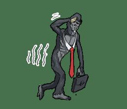 Office worker gorilla 2 sticker #6408604