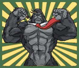 Office worker gorilla 2 sticker #6408606