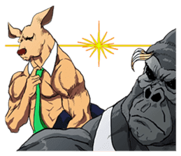 Office worker gorilla 2 sticker #6408607
