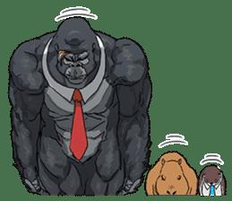 Office worker gorilla 2 sticker #6408610