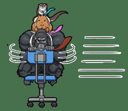 Office worker gorilla 2 sticker #6408613