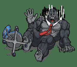 Office worker gorilla 2 sticker #6408616