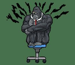 Office worker gorilla 2 sticker #6408617