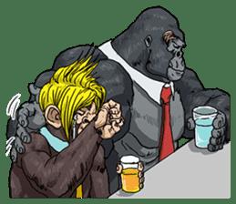 Office worker gorilla 2 sticker #6408620