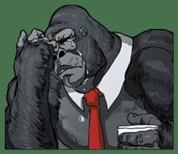 Office worker gorilla 2 sticker #6408621