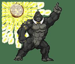 Office worker gorilla 2 sticker #6408622