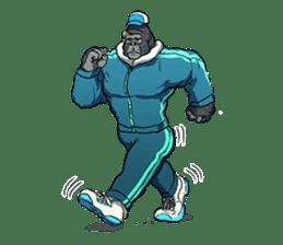 Office worker gorilla 2 sticker #6408625