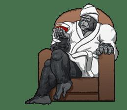 Office worker gorilla 2 sticker #6408627