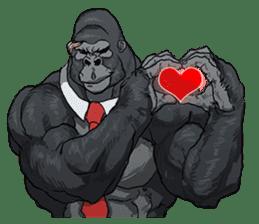 Office worker gorilla 2 sticker #6408628