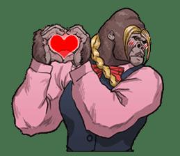 Office worker gorilla 2 sticker #6408629
