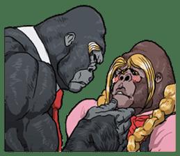 Office worker gorilla 2 sticker #6408631