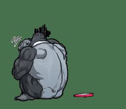 Office worker gorilla 2 sticker #6408634