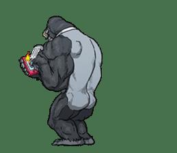 Office worker gorilla 2 sticker #6408636
