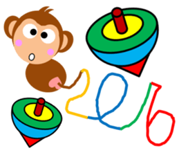 Happy New Year & Merry Christmas(monkey) sticker #6418639