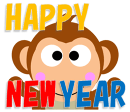 Happy New Year & Merry Christmas(monkey) sticker #6418663