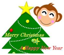 Happy New Year & Merry Christmas(monkey) sticker #6418667