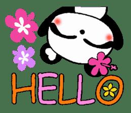 Hawaiian panda of the damper sticker #6420593
