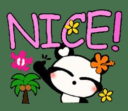 Hawaiian panda of the damper sticker #6420599