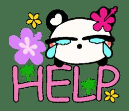Hawaiian panda of the damper sticker #6420606