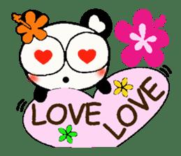 Hawaiian panda of the damper sticker #6420617