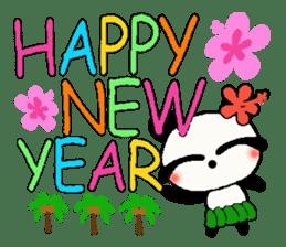 Hawaiian panda of the damper sticker #6420622