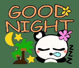 Hawaiian panda of the damper sticker #6420630