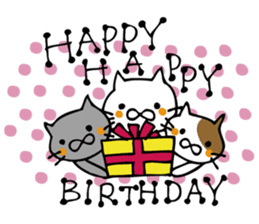 Congratulations stickers of cats sticker #6432961