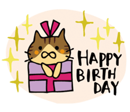 Congratulations stickers of cats sticker #6432964