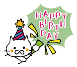 Congratulations stickers of cats sticker #6432967