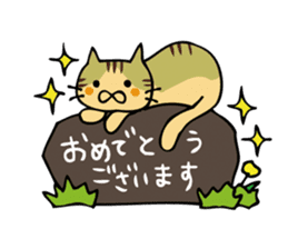 Congratulations stickers of cats sticker #6432987