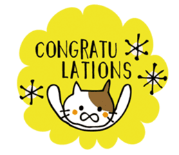 Congratulations stickers of cats sticker #6432988