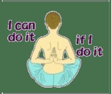 Namaste (English Version) sticker #6438726