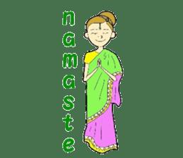 Namaste (English Version) sticker #6438729