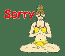 Namaste (English Version) sticker #6438744