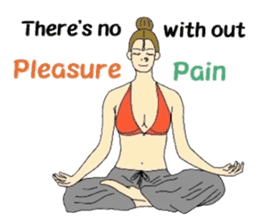 Namaste (English Version) sticker #6438759