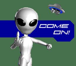 Alien Grey 3D (English) sticker #6438840