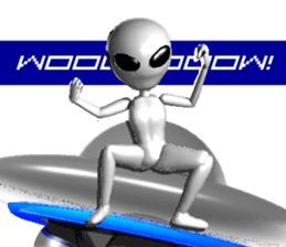 Alien Grey 3D (English) sticker #6438843