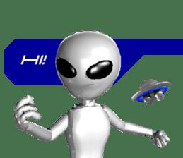 Alien Grey 3D (English) sticker #6438844