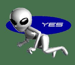 Alien Grey 3D (English) sticker #6438845